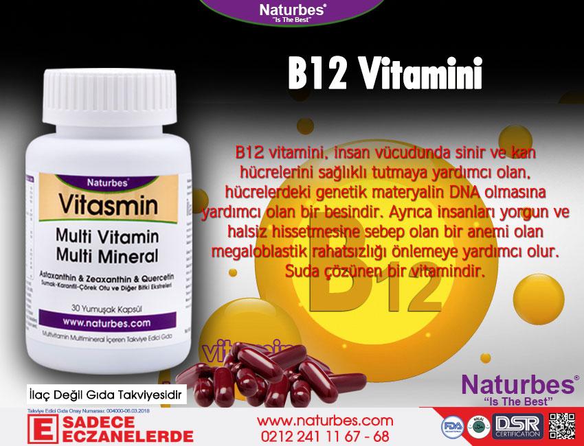 B12 Vitamini - B12 Vitamini Nedir? B12 Vitamini Faydaları