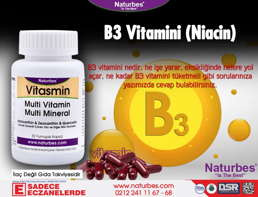 B3 Vitamini - B3 Vitamini Nedir? B3 Vitamini Faydaları